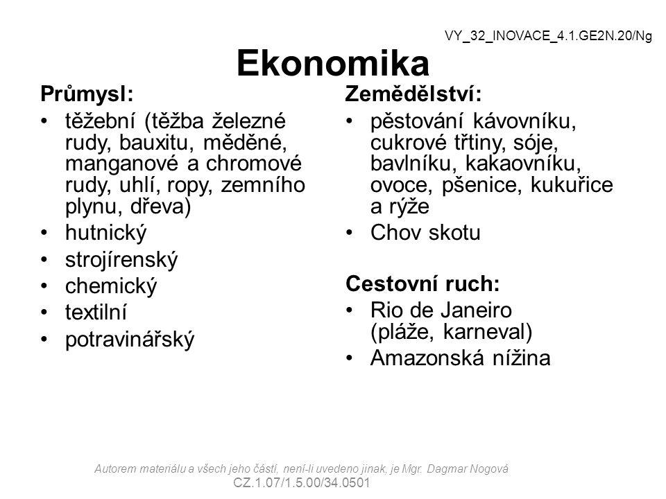 Ekonomika VY_32_INOVACE_4.1.GE2N.20/Ng. Průmysl: