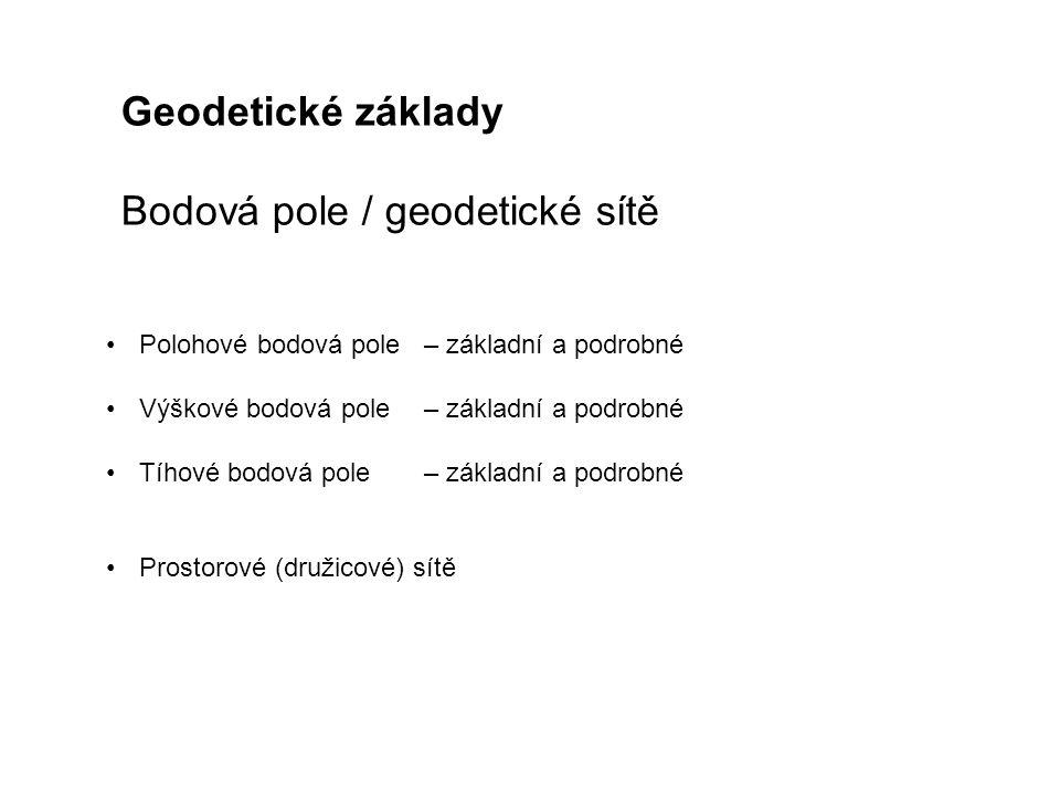 Bodová pole / geodetické sítě