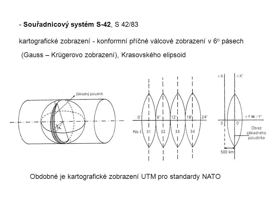 - Souřadnicový systém S-42, S 42/83
