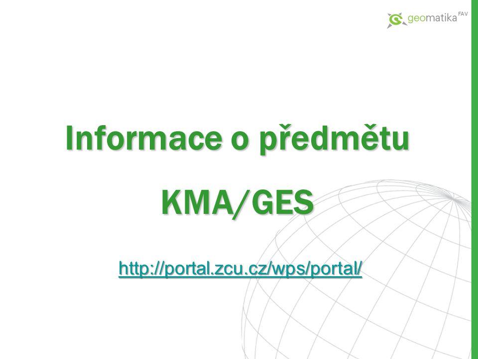 Informace o předmětu KMA/GES