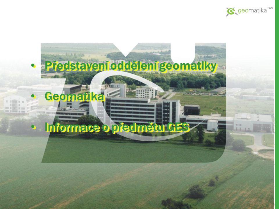 Představení oddělení geomatiky