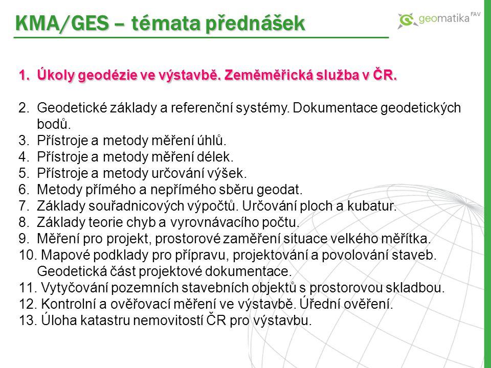 KMA/GES – témata přednášek
