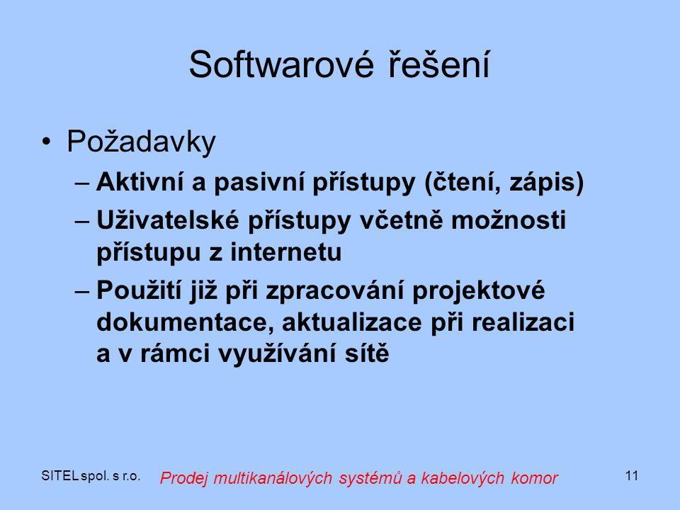 Softwarové řešení Požadavky Aktivní a pasivní přístupy (čtení, zápis)