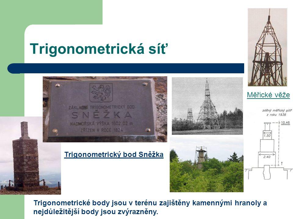 Trigonometrická síť Měřické věže Trigonometrický bod Sněžka