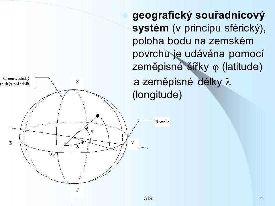 a zeměpisné délky  (longitude)