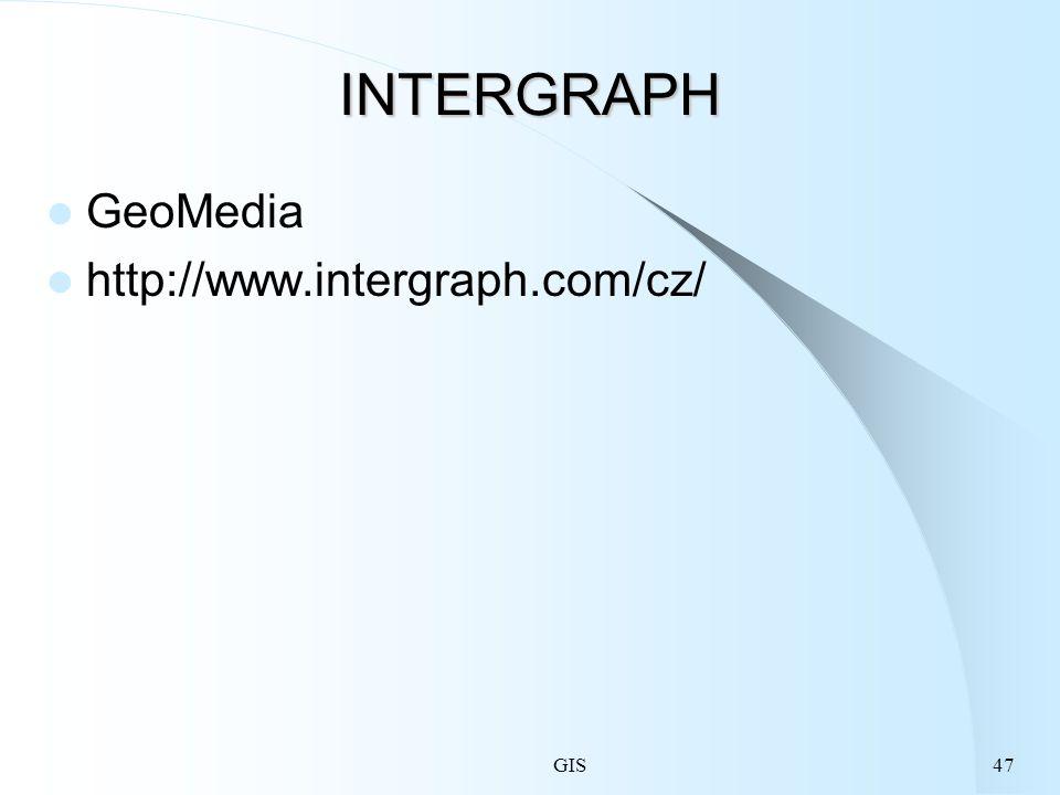 INTERGRAPH GeoMedia http://www.intergraph.com/cz/ GIS