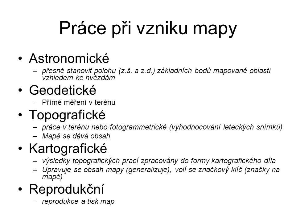 Práce při vzniku mapy Astronomické Geodetické Topografické