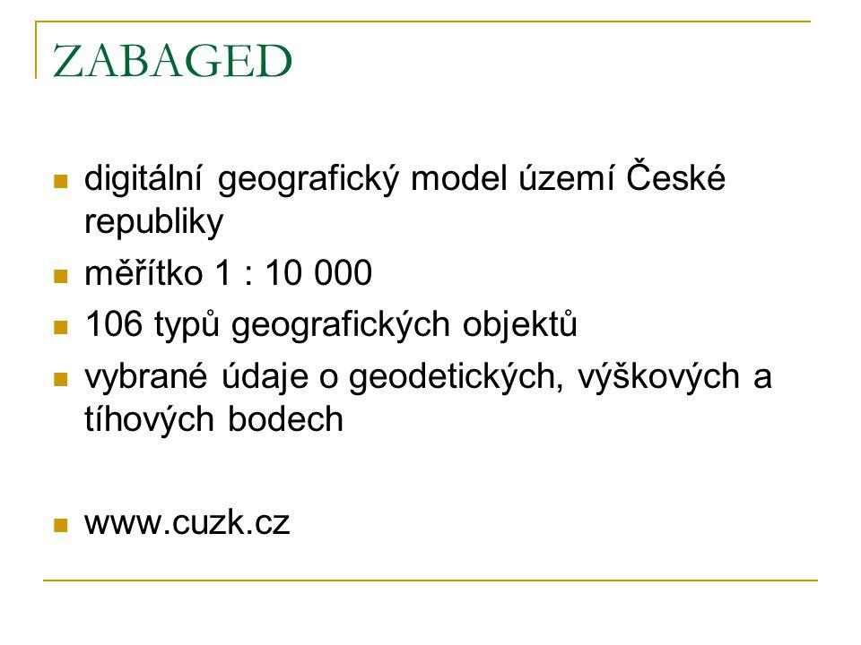 ZABAGED digitální geografický model území České republiky
