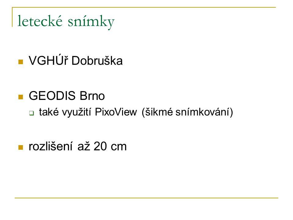 letecké snímky VGHÚř Dobruška GEODIS Brno rozlišení až 20 cm