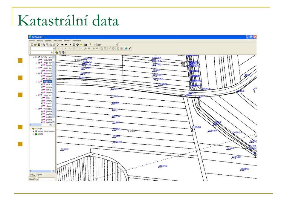 Katastrální data registr katastru nemovitostí ISKN