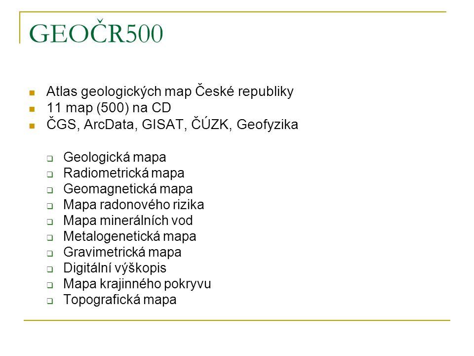 GEOČR500 Atlas geologických map České republiky 11 map (500) na CD
