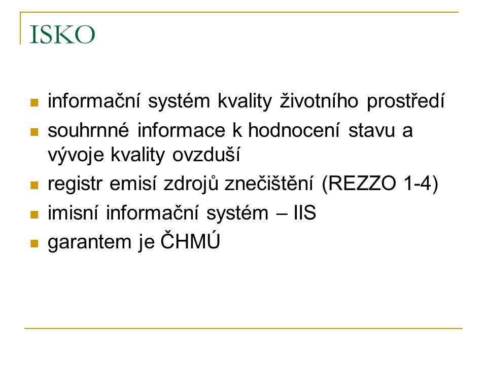 ISKO informační systém kvality životního prostředí