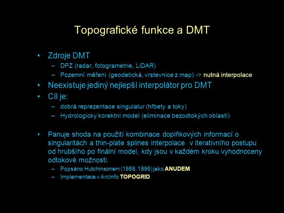 Topografické funkce a DMT
