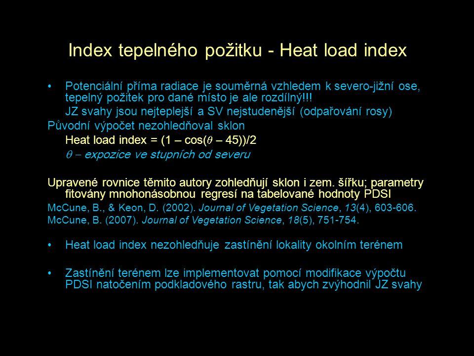 Index tepelného požitku - Heat load index