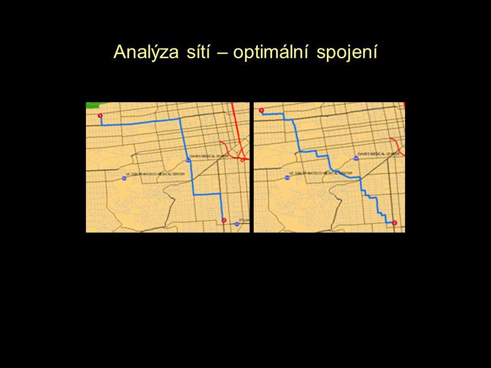 Analýza sítí – optimální spojení