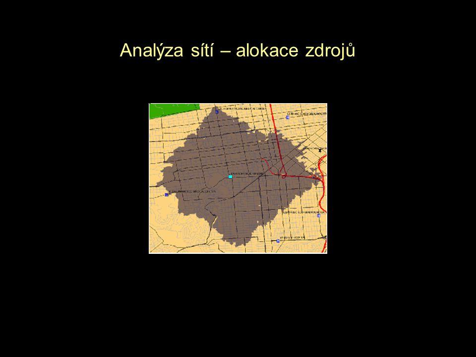 Analýza sítí – alokace zdrojů