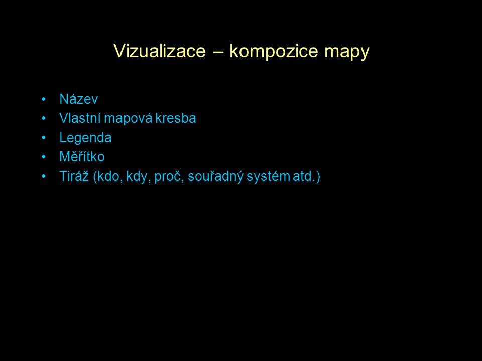 Vizualizace – kompozice mapy