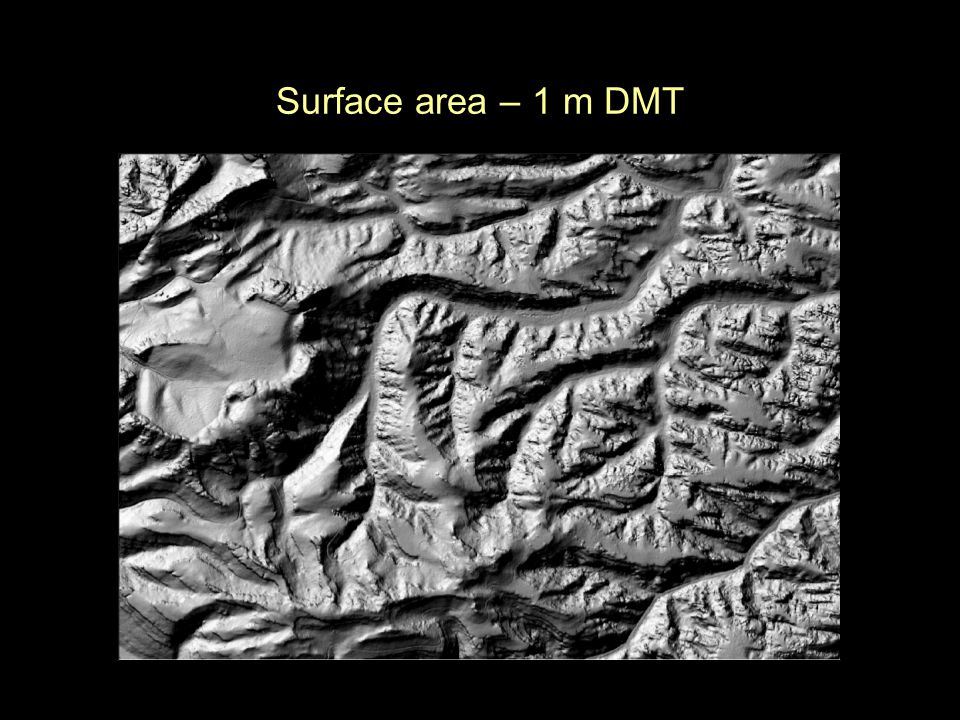 Surface area – 1 m DMT
