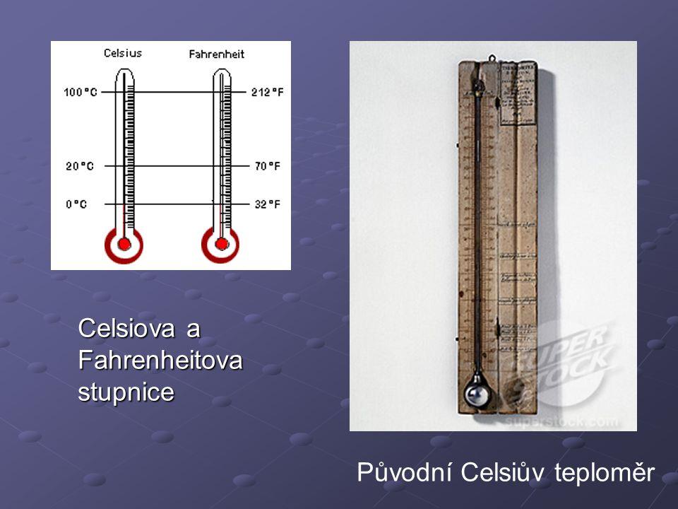 Celsiova a Fahrenheitova stupnice