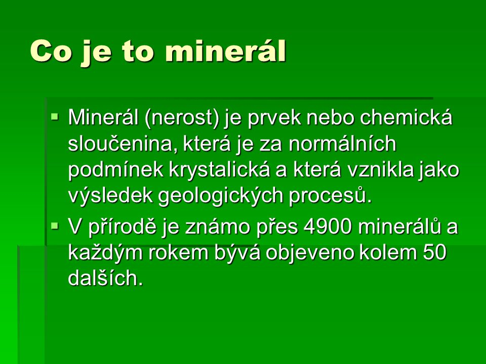 Co je to minerál