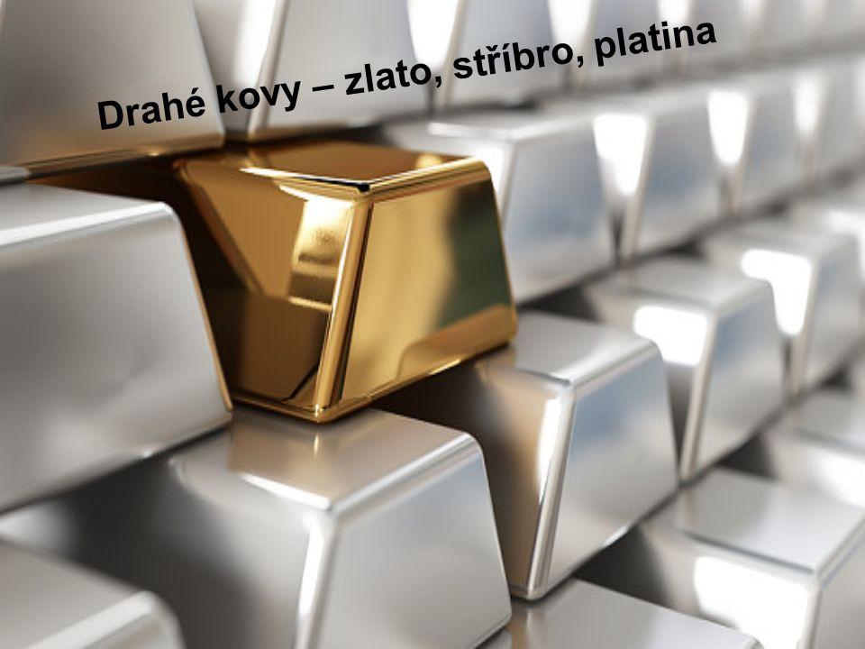 Drahé kovy – zlato, stříbro, platina