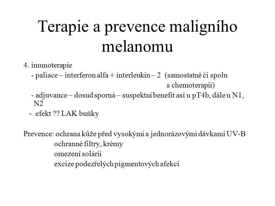 Terapie a prevence maligního melanomu
