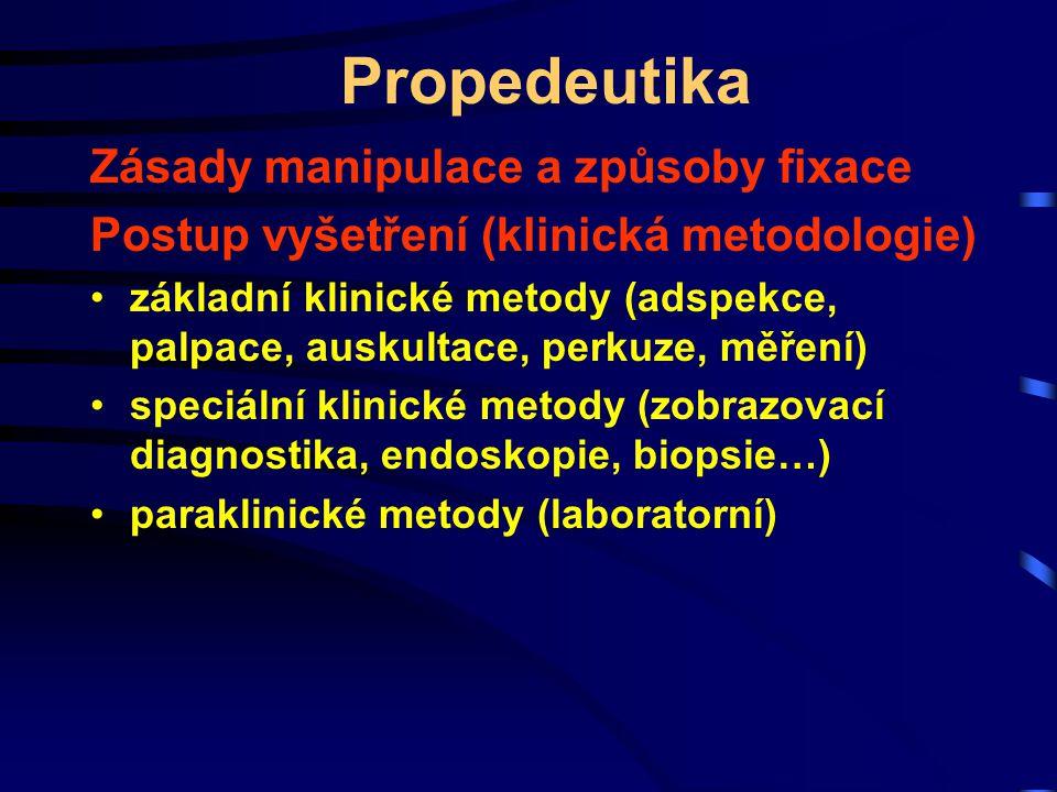 Propedeutika Zásady manipulace a způsoby fixace
