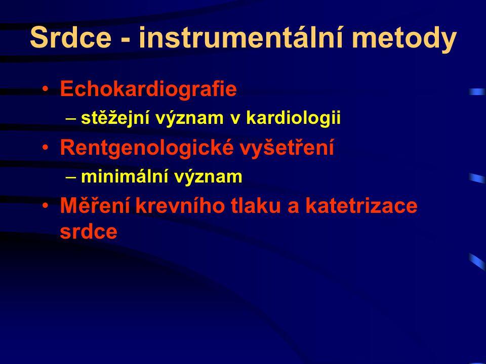 Srdce - instrumentální metody