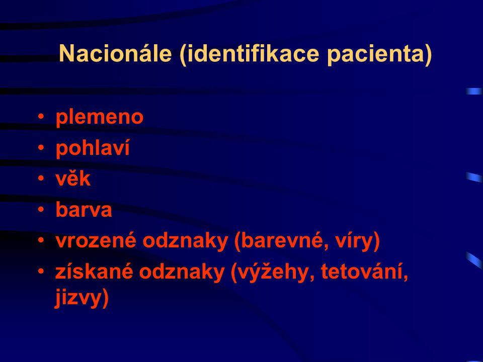 Nacionále (identifikace pacienta)