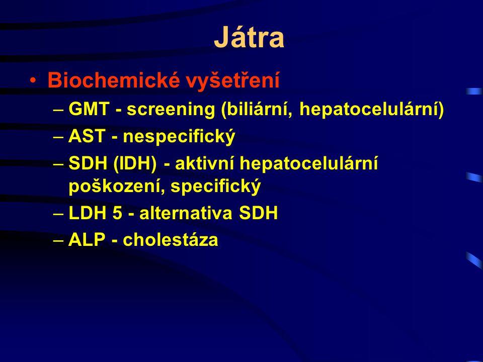 Játra Biochemické vyšetření