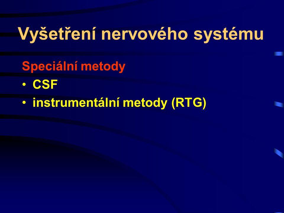 Vyšetření nervového systému