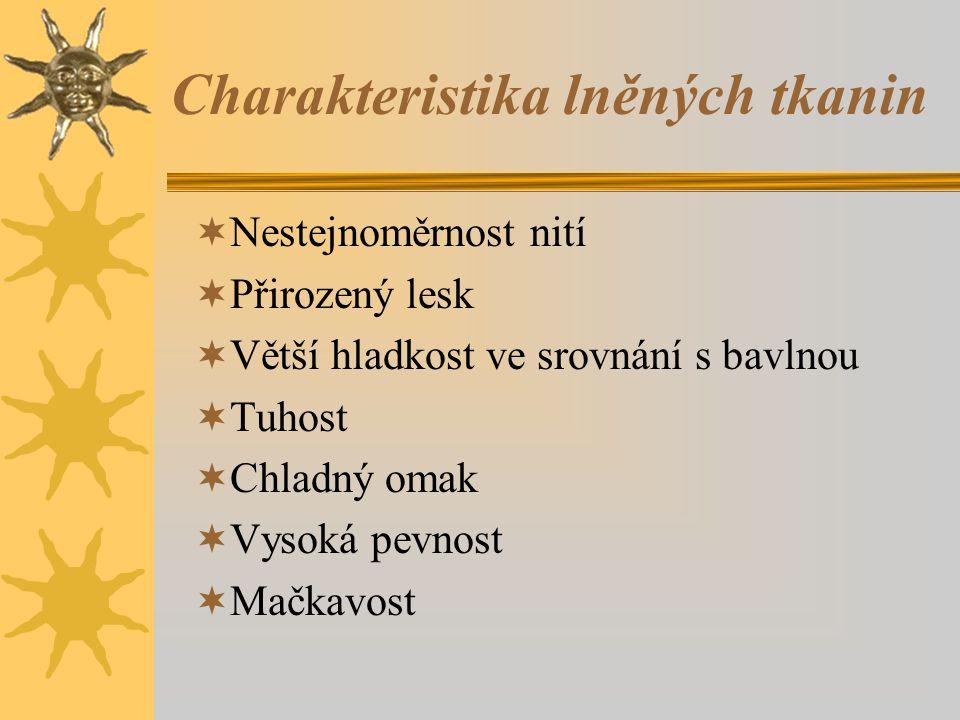 Charakteristika lněných tkanin