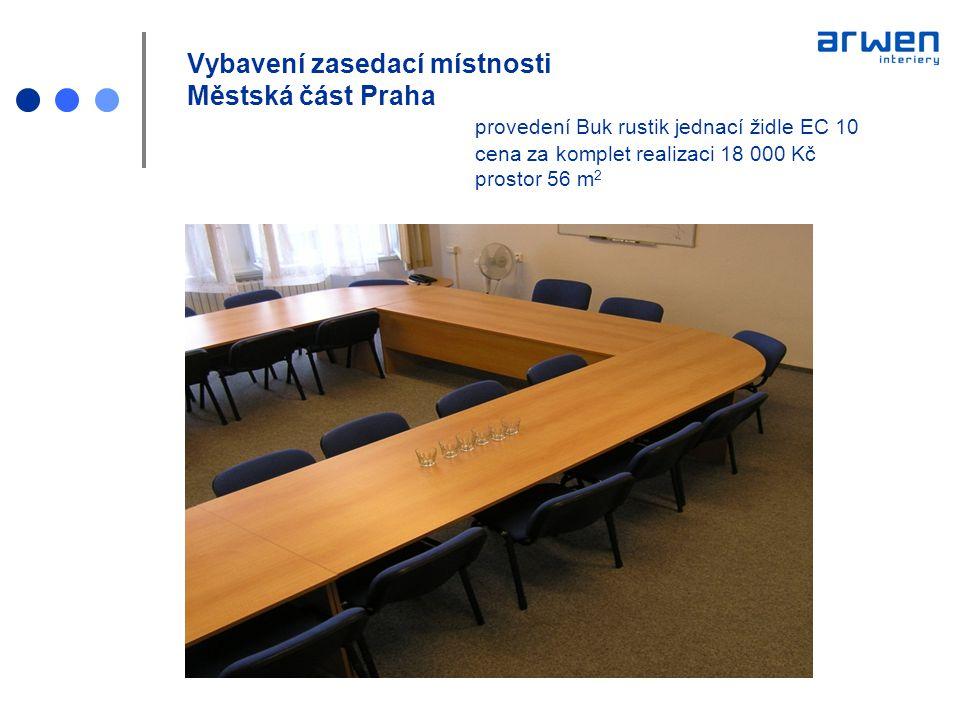 Vybavení zasedací místnosti Městská část Praha