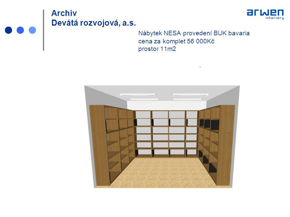 Archiv Devátá rozvojová, a. s. Nábytek NESA provedení BUK bavaria