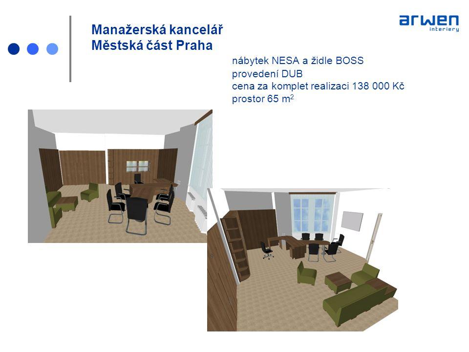 Manažerská kancelář Městská část Praha. nábytek NESA a židle BOSS