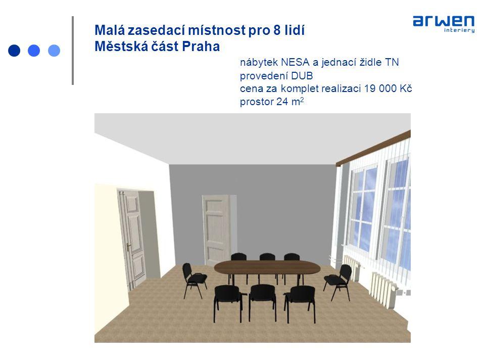 Malá zasedací místnost pro 8 lidí Městská část Praha