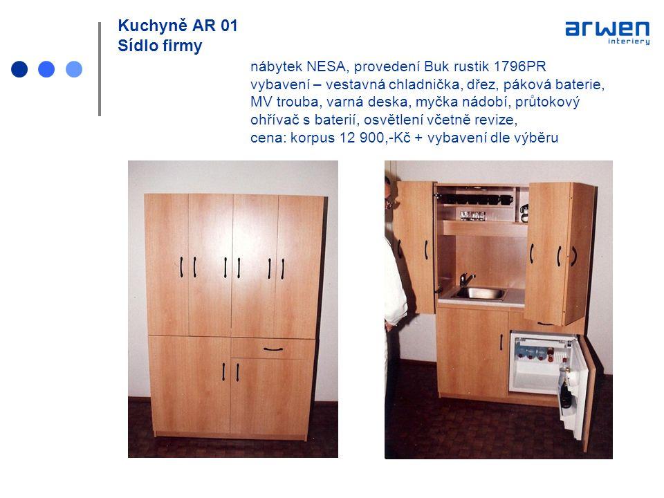 Kuchyně AR 01 Sídlo firmy. nábytek NESA, provedení Buk rustik 1796PR