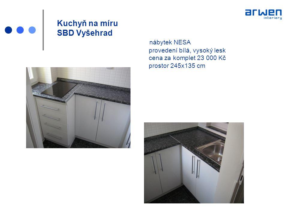 Kuchyň na míru SBD Vyšehrad. nábytek NESA. provedení bílá, vysoký lesk