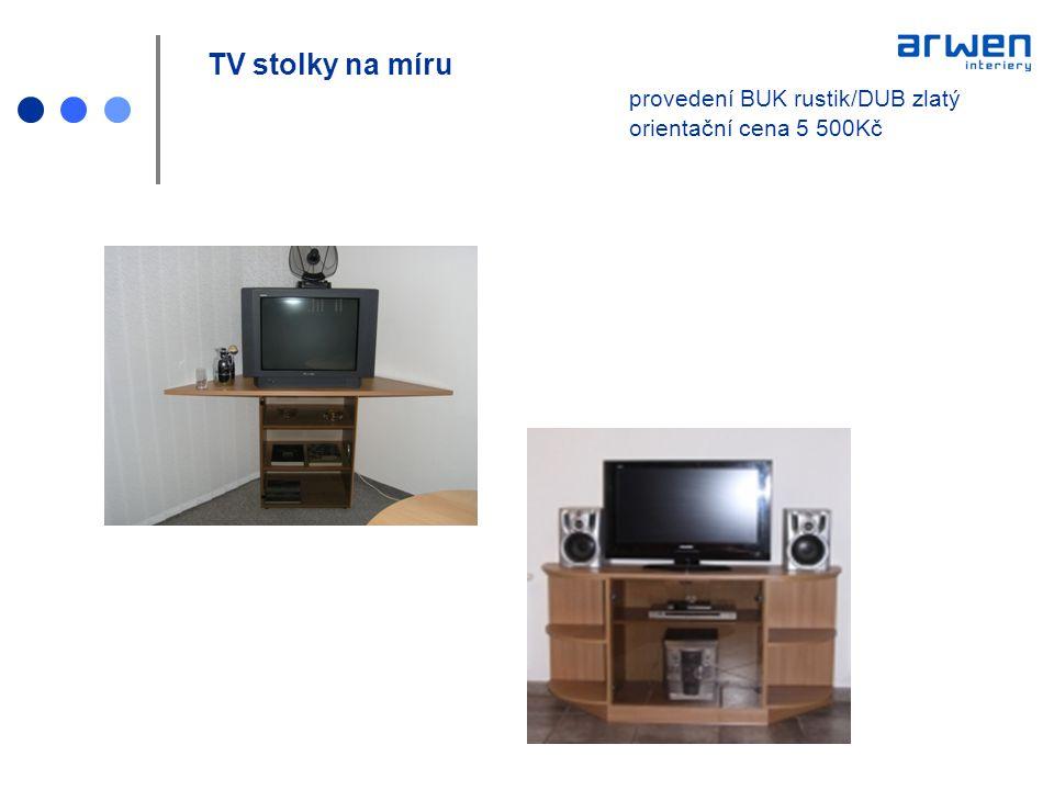 TV stolky na míru. provedení BUK rustik/DUB zlatý