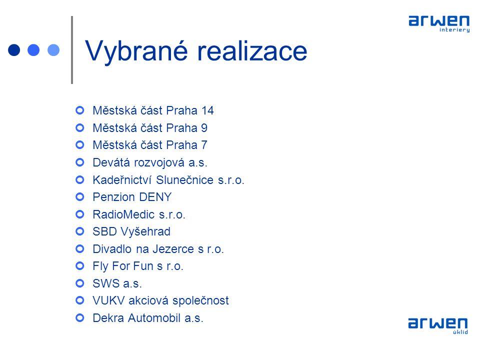 Vybrané realizace Městská část Praha 14 Městská část Praha 9
