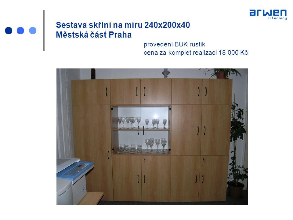 Sestava skříní na míru 240x200x40 Městská část Praha