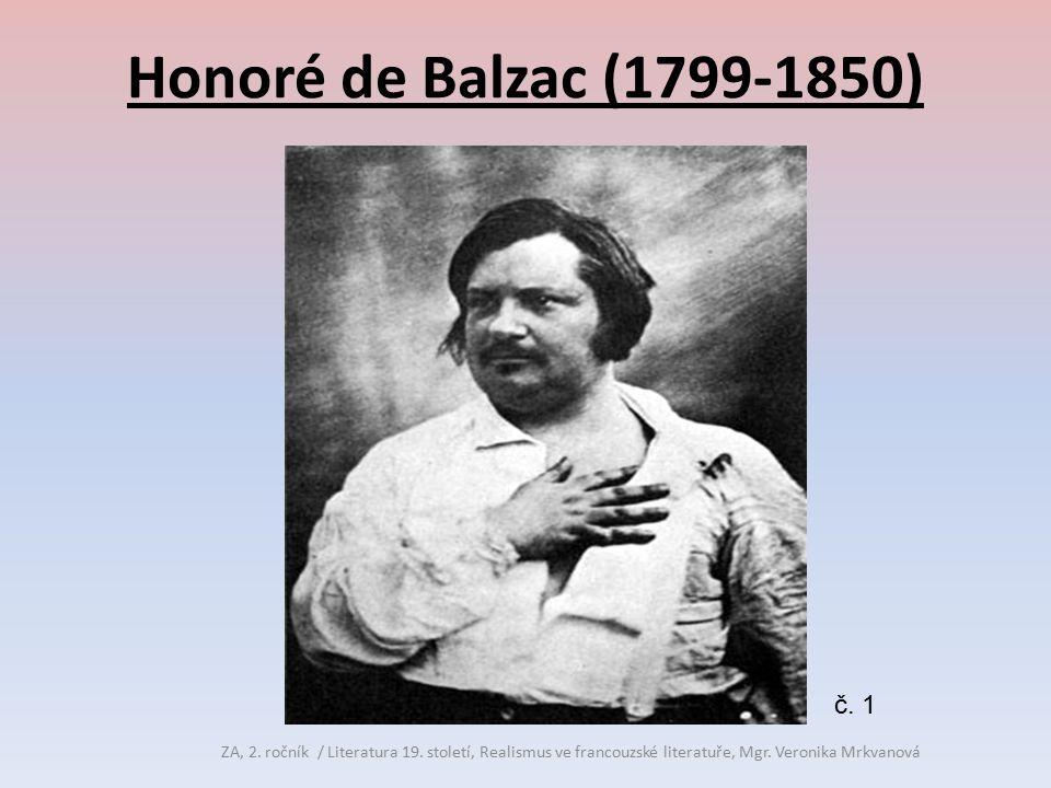 Honoré de Balzac (1799-1850) č. 1. ZA, 2. ročník / Literatura 19.