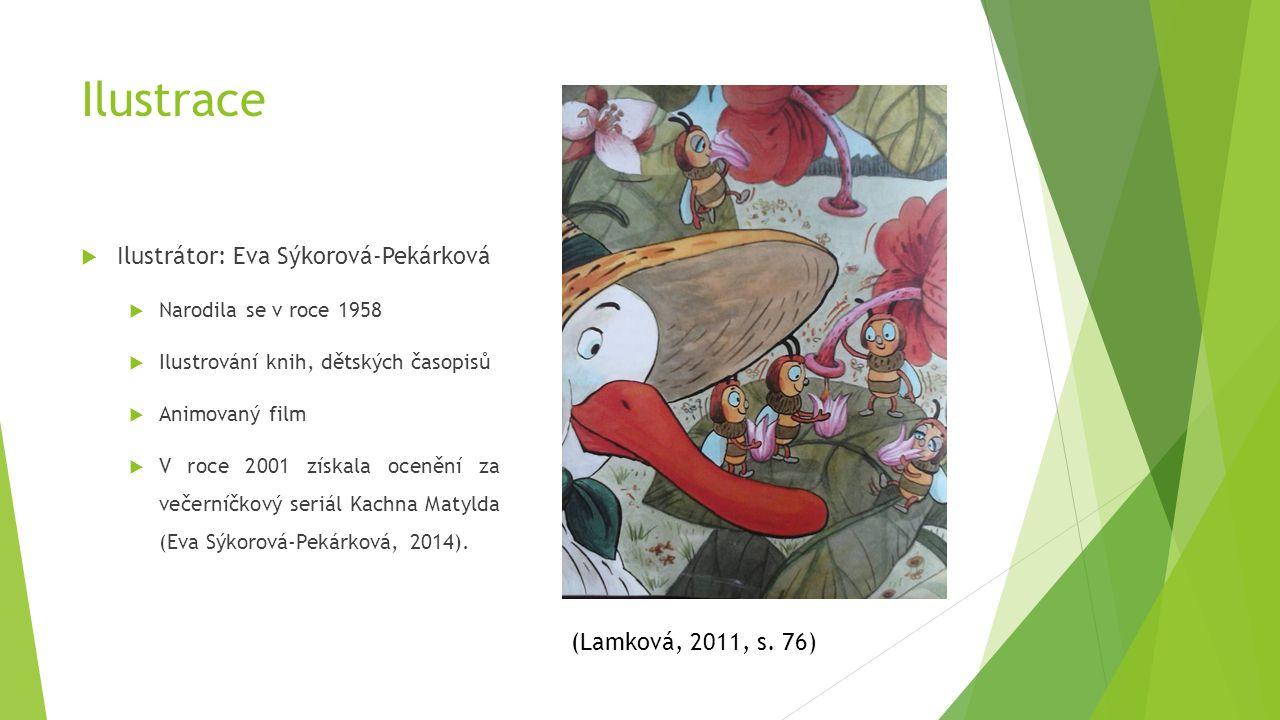 Ilustrace Ilustrátor: Eva Sýkorová-Pekárková (Lamková, 2011, s. 76)