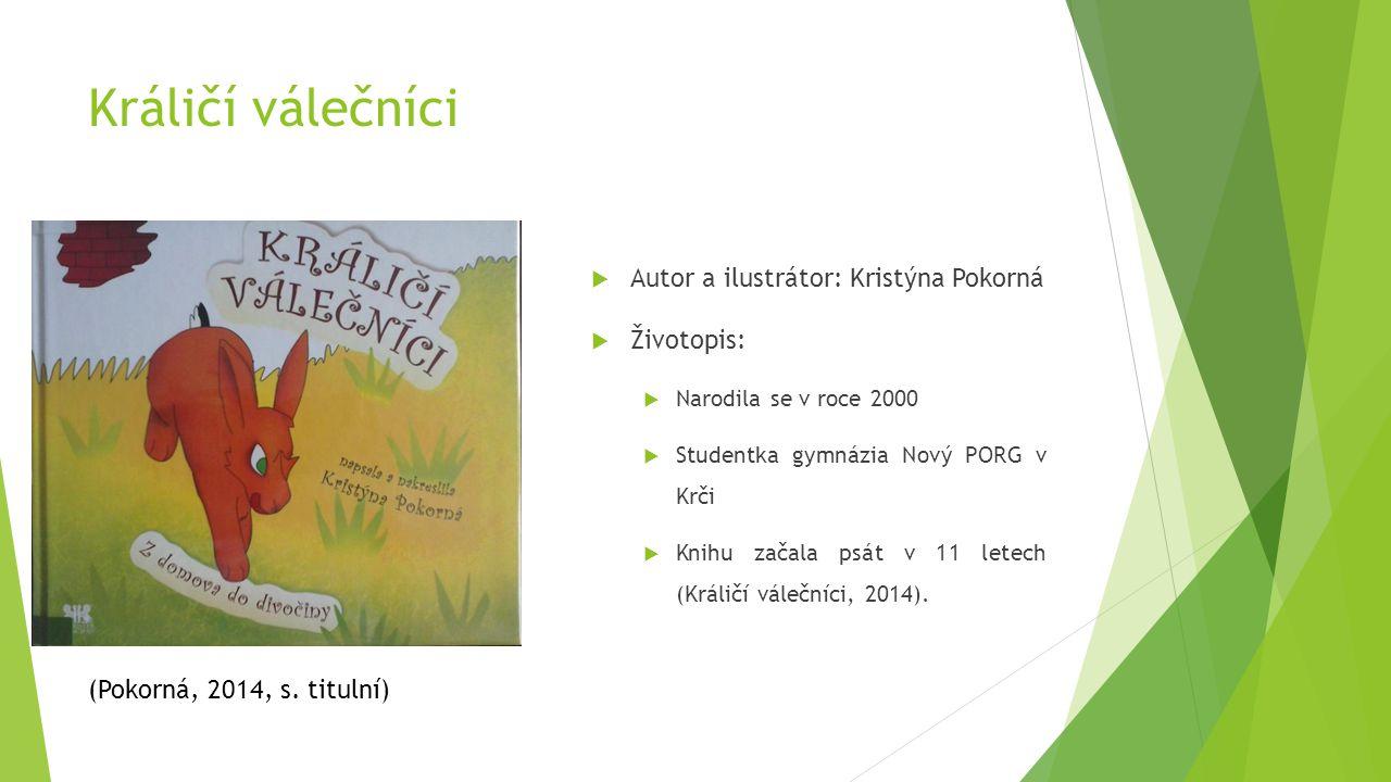 Králičí válečníci Autor a ilustrátor: Kristýna Pokorná Životopis: