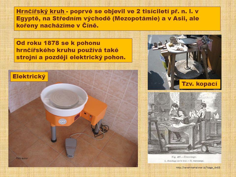 Hrnčířský kruh - poprvé se objevil ve 2 tisíciletí př. n. l