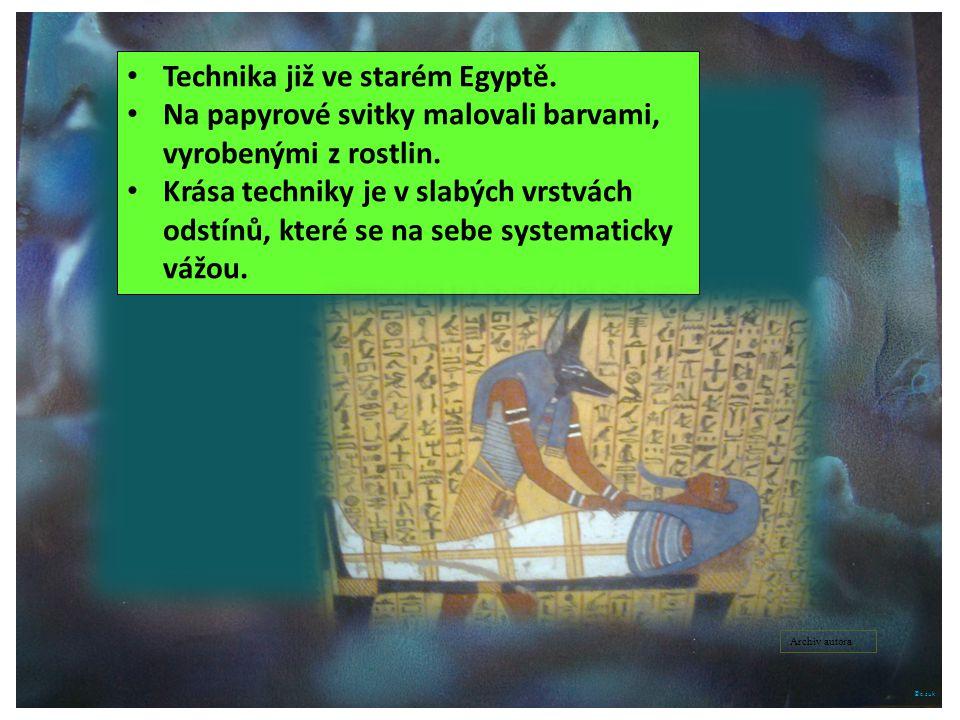 Technika již ve starém Egyptě.