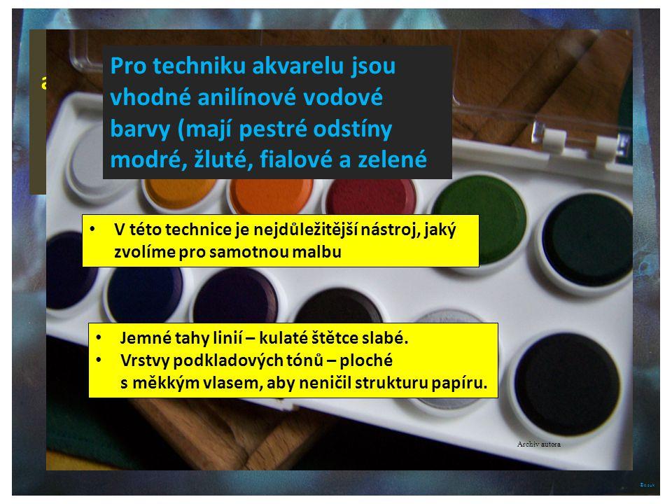 Značkové akvarelové barvy jsou prodávány