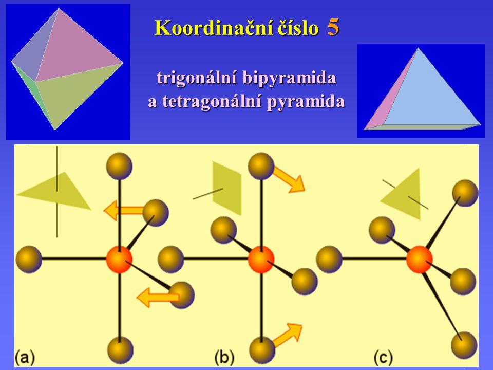 Koordinační číslo 5 trigonální bipyramida a tetragonální pyramida (a)