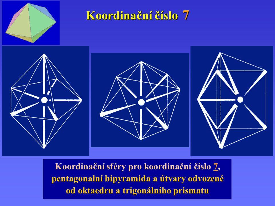 Koordinační číslo 7 Koordinační sféry pro koordinační číslo 7,