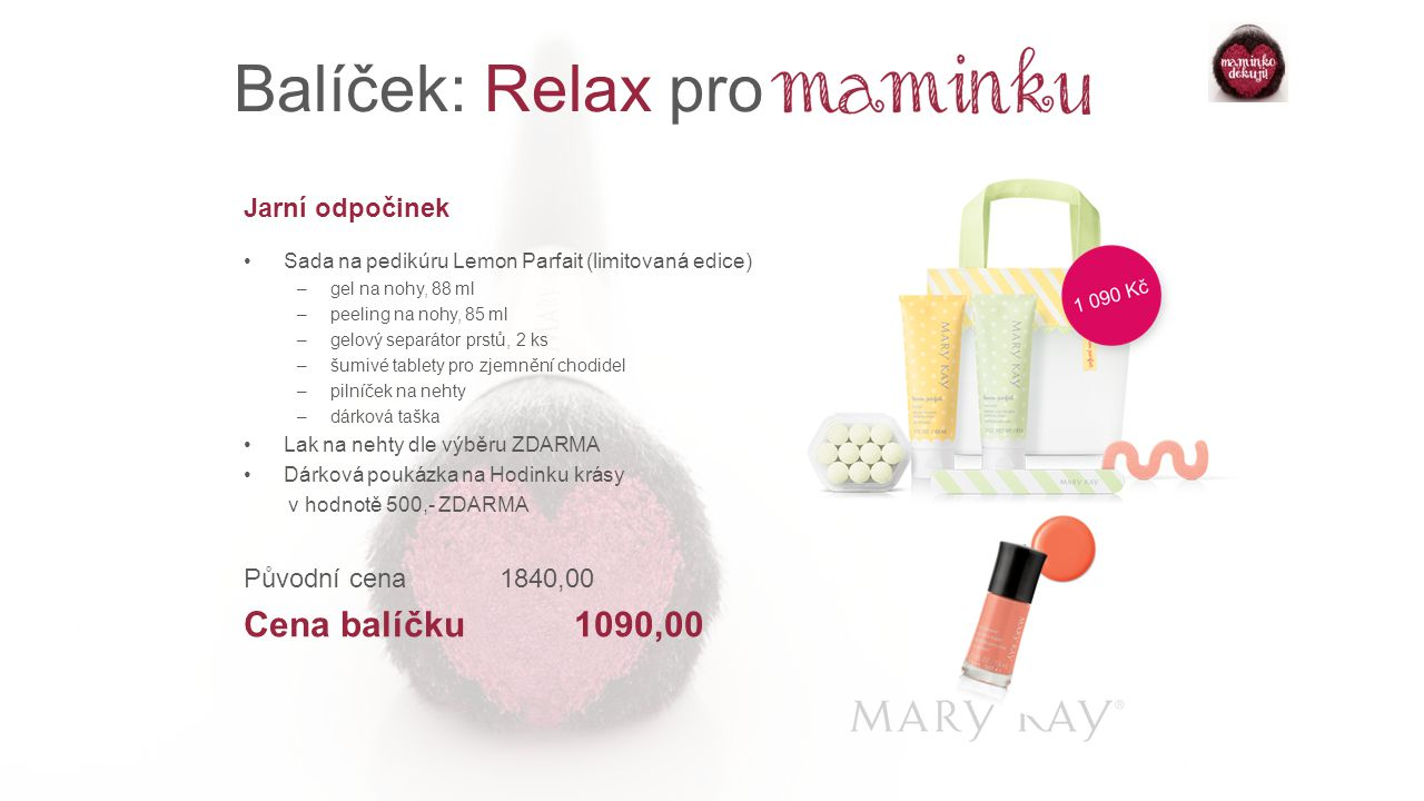Balíček: Relax pro Cena balíčku 1090,00 Jarní odpočinek